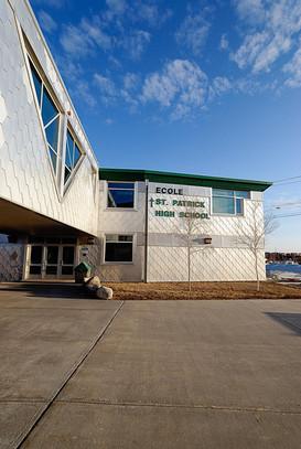 Bridge at Ecole St Patrick High School, Yellowknife NWT