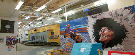 Kiilinik High School Cambridge Bay interior panorama