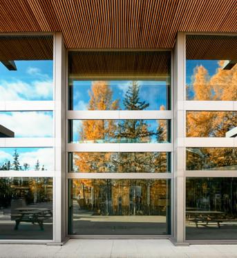 NWT Legislative Assembly lobby windows