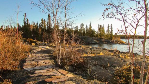 Water's Edge Park in Yellowknife NWT