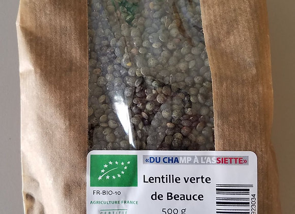 Lentilles vertes de Beauce BIO