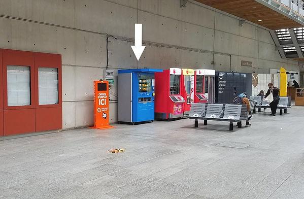 Distributeur Ermont-Eaubonne emplacement