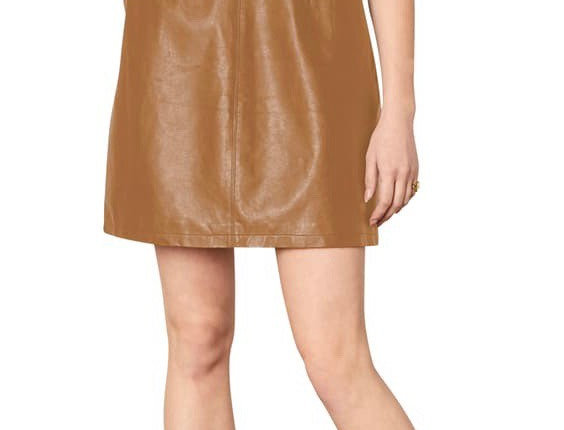 Cupcakes and Cashmere Faux Leather Dress