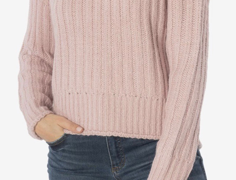 KUT  From The Kloth Leona Turtleneck Sweater in Rose