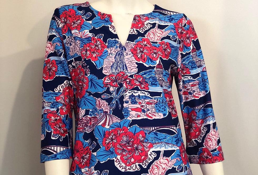 Luca Dress - Navy WV Custom Print
