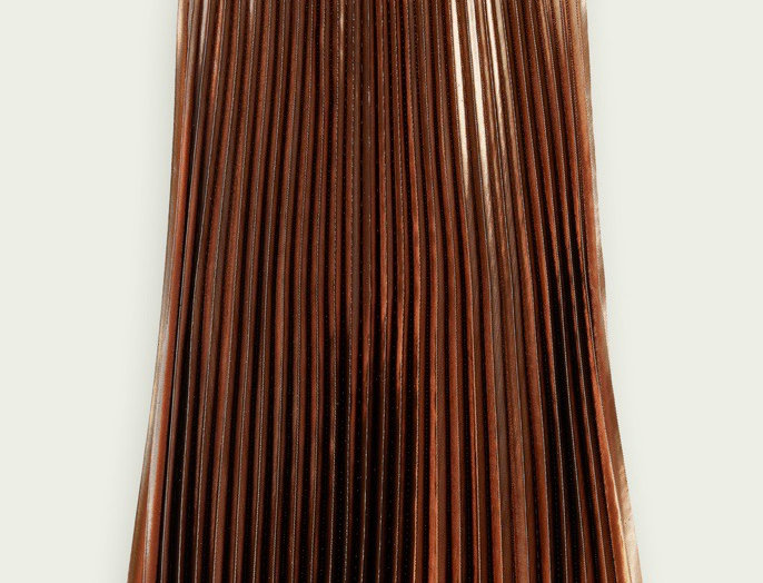 Scotch & Soda Metallic Folded Midi Skirt