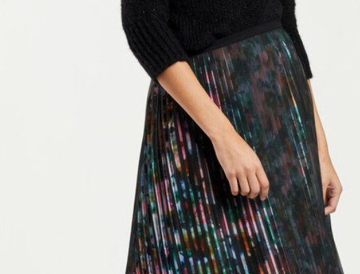 Marie Oliver Gabriella Pleated Maxi Skirt
