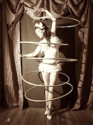 hula hoop, hula-hoop, Swanville , Judith Lanigan, circus, theatre, The Dying Swan,