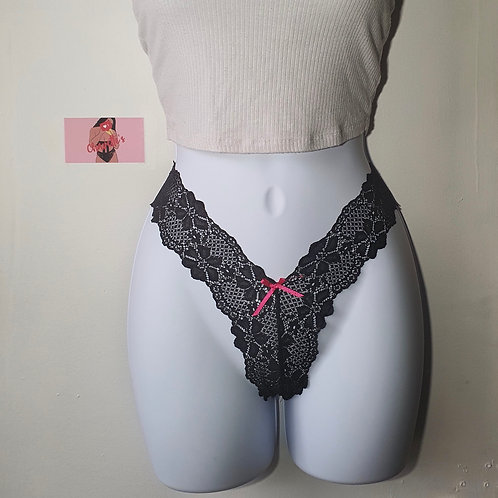 Blackberry Lace Thong