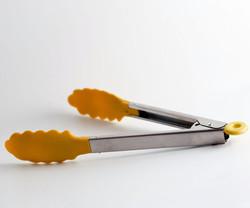 Orange Silicone Tongs