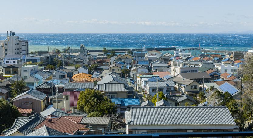 目の前に広がる駿河湾は、高台に建つ詩季亭ならではの眺めです