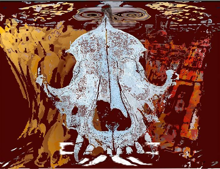 Daniel_Morales_Ortiz_Xolotl-neluayotl_Gráfica_Digital_Gofrada_2009_$1,800.00