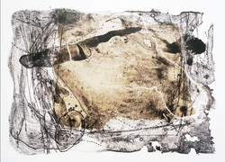 Gabriela_González_Leal_Marcando_territorio_Litografía_y_Chine_Collé_sobre_papel_42_x_64_cm_$6,500.00