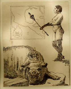 7 La Domadora, aguafuerte, 20 x 15 cm