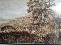 Marcos Zamora Vista de Taxco_ Mixta sobre papel. 56 X 93.5 cm. 2012. $7,800.00