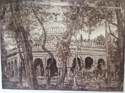 Marcos Zamora Kiosko Morisco Aguafuerte y aguatinta sobre acero 21.5 X 28.5 cm. 2009. $1,950.00
