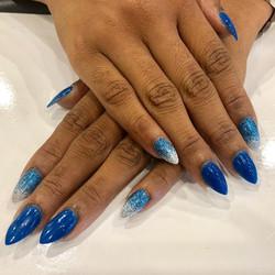 ombre silver+blue