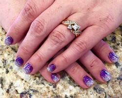 ombre purple