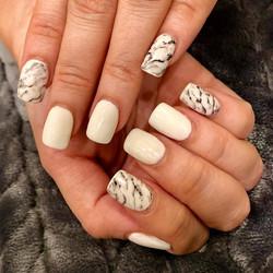 marble blk + white
