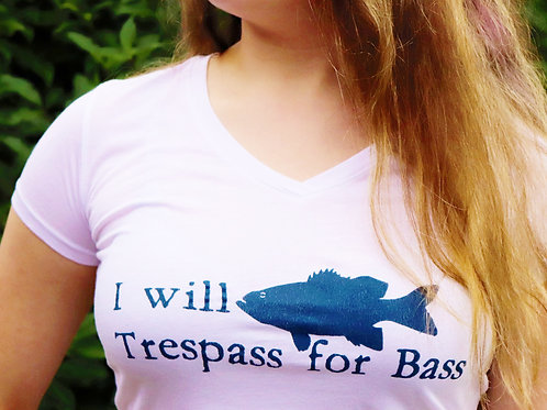 Ladies Trespass for Bass V-Neck
