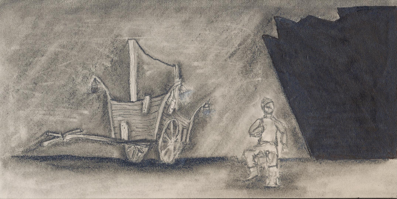 Caucasian Chalk Circle Wagon