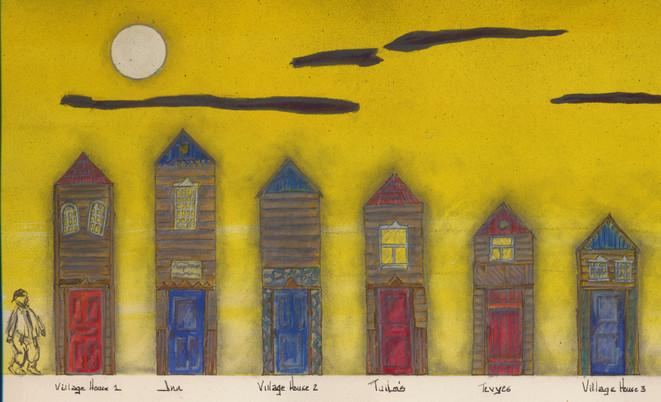 Fiddler On The Roof - Scenic Design Color Sketch