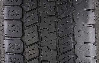 Misaligned tire tread wear