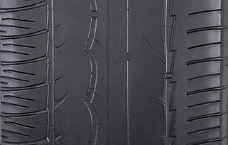 Over-inflated tire tread wear