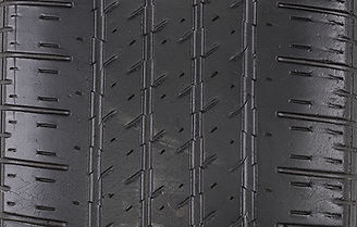Properly inflated tire tread wear