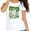 Thumbnail: MVPSOS TEAM: White T-Shirt with 1-Color Logo