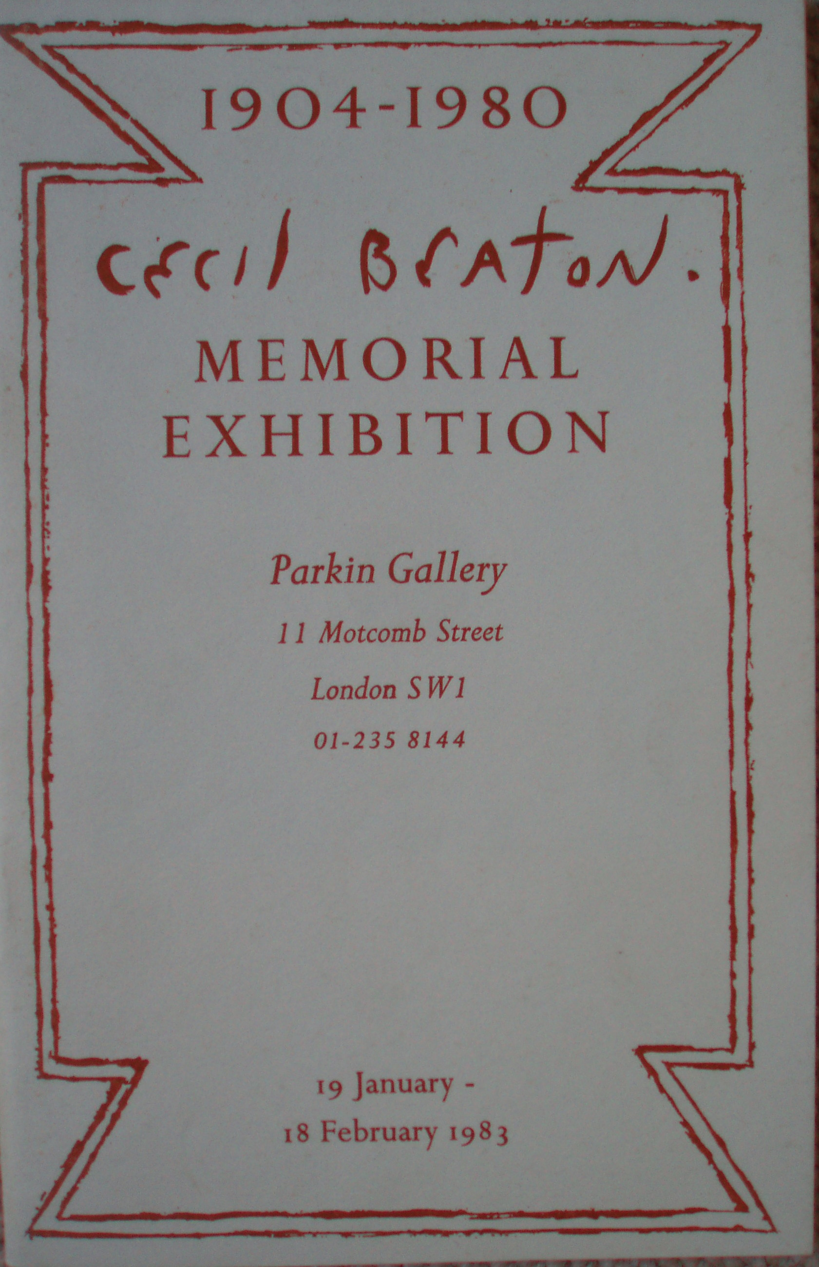 Cecil Beaton Memorial Exhibition