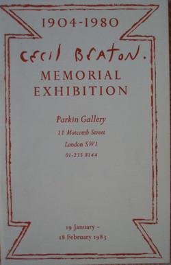 Cecil Beaton Memorial Exhibition