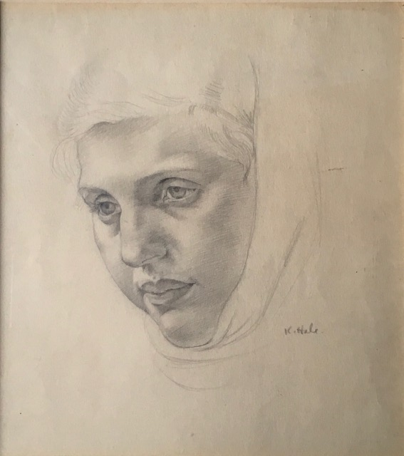 Girl in a headscarf 1920