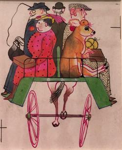 Manda in the Jaunting Car