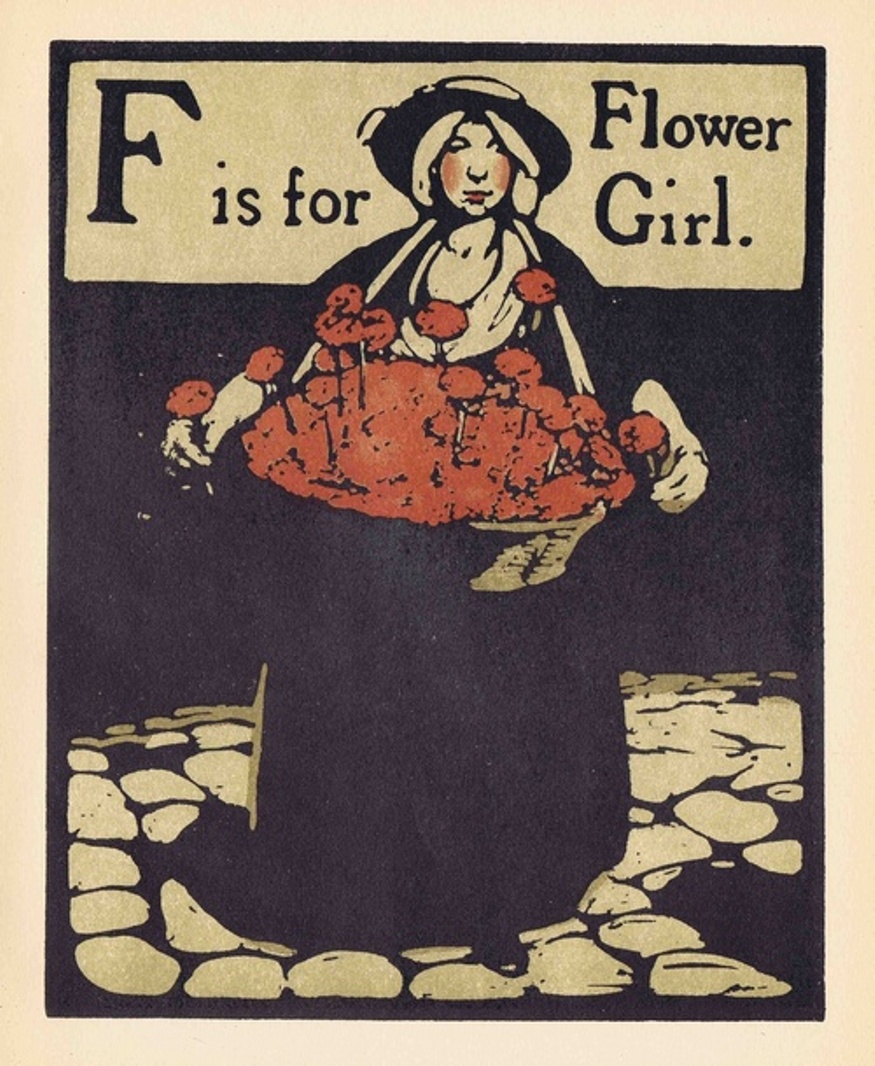 F is for Flower Girl