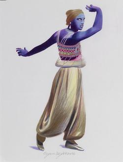 Nijinsky as the Golden Slave in Scheherazade