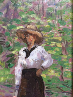 The Straw Hat (detail)