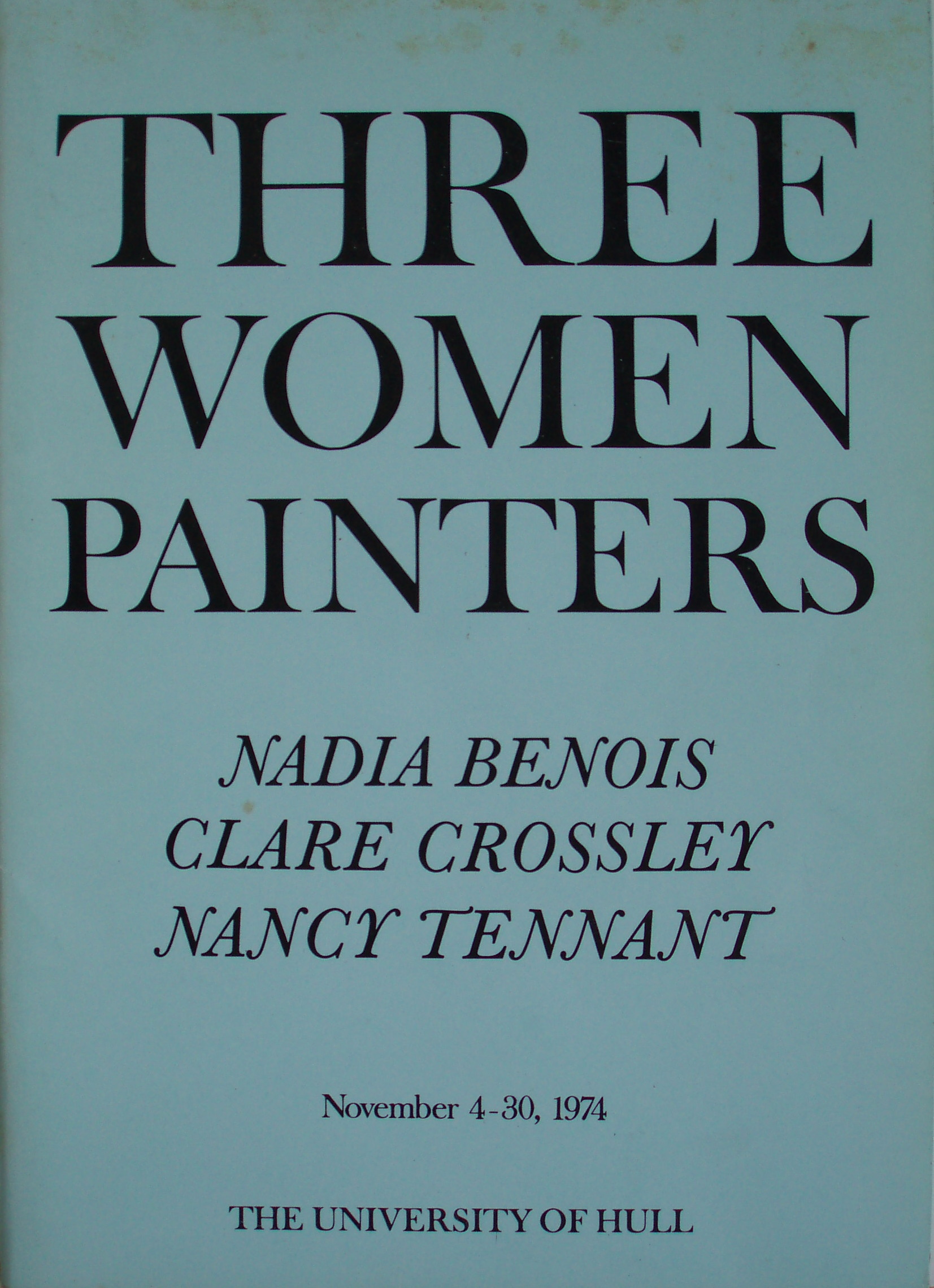 Three Women Painters