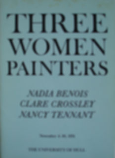 THree Women Painters Catalogue