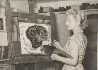 Eileen Mayo painting Cat