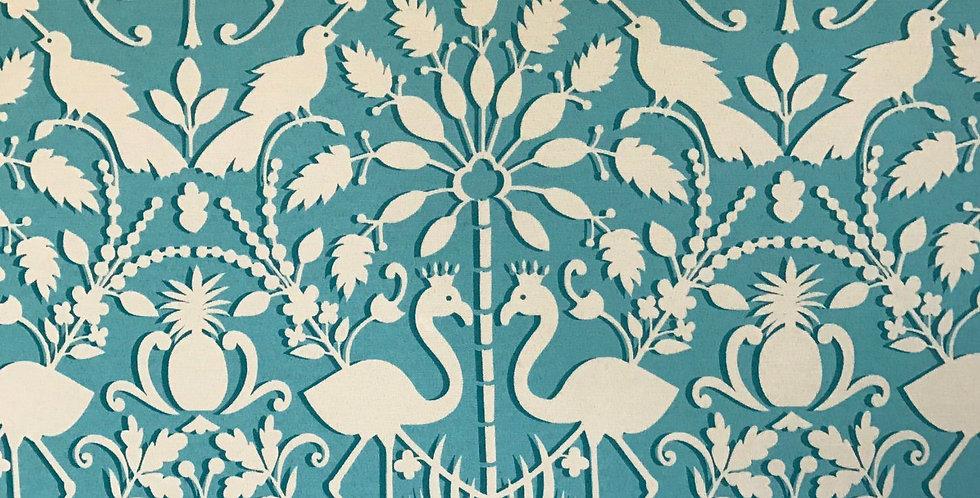 Turquoise Flamingo Fabric