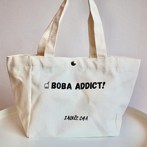 'BOBA ADDICT!' Canvas Lunch Bag