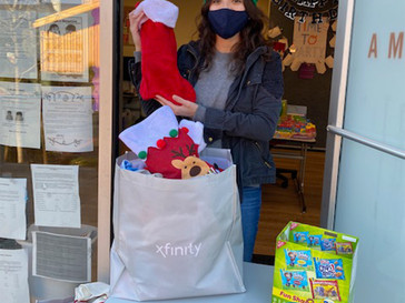 Christmas Stockings Filled With Goodies for Lakeside Residents