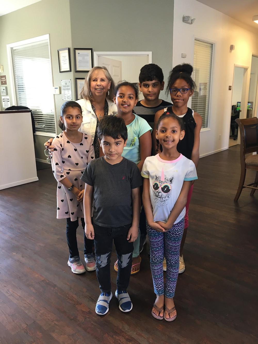 Judi Boston-shedd with Willow Glen kids