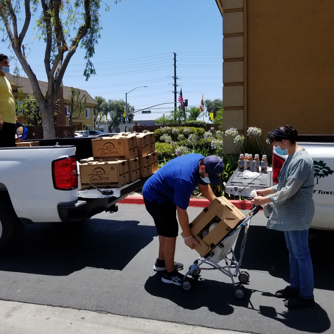 Orange County Resident Receiving Food
