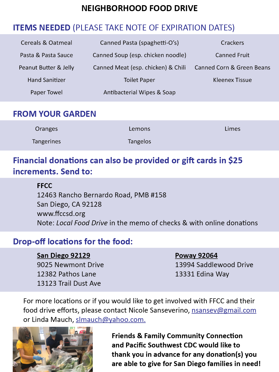 FFCC Updated Donation Food List