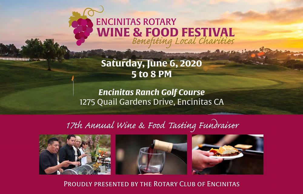 Encinitas Rotary Wine & Food Festival Flier