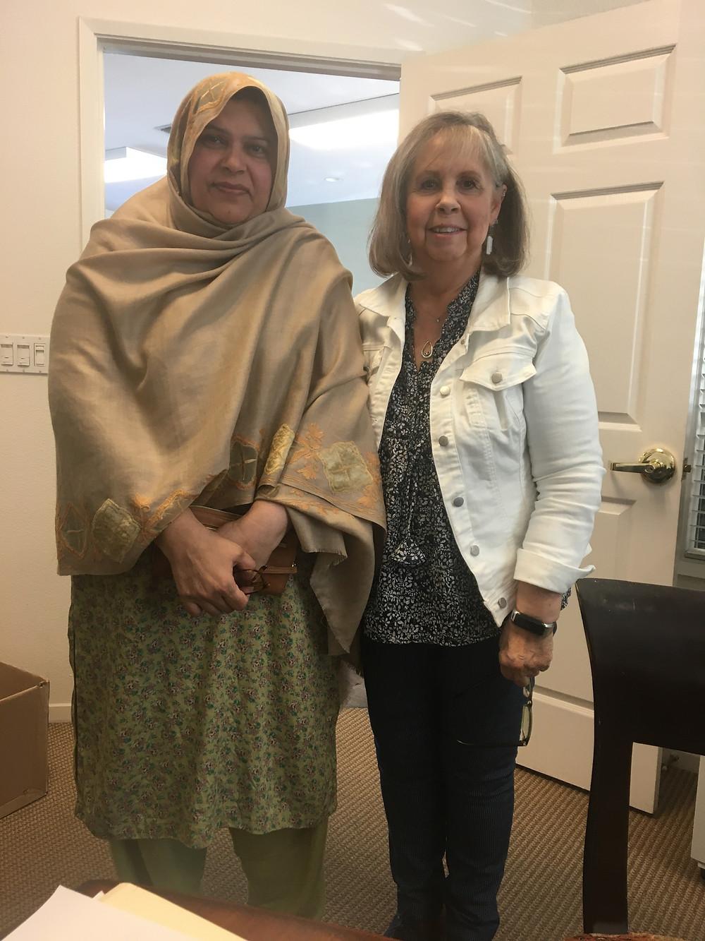 Judi Boston-shedd with Willow Glen resident Shabnim Kahn