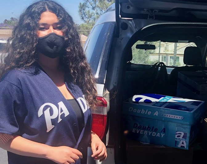 High Tech High Mesa: High Schoolers Donate Essential Supplies to PSCDC San Diego Residents