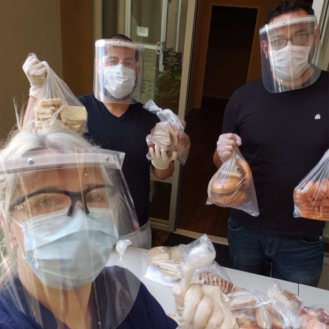 PSCDC Coordinators During Bread Distribu